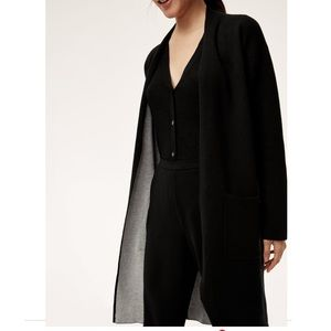 Aritzia Babaton Lance cardigan black and gray